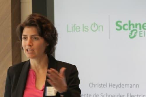 Christel Heydemann, la présidente de Schneider Electric France,