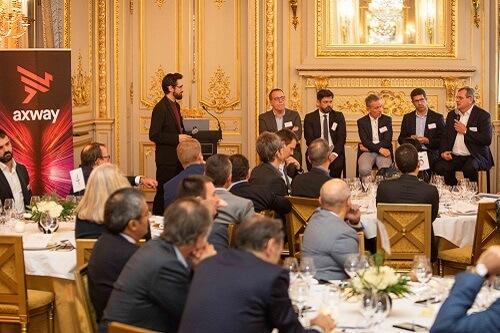Le 6 novembre 2019 s'est tenu à l'hôtel Shangri-La à Paris, le grand-dîner débat« Ces entreprises qui se transforment en écosystèmes grâce aux API » organisé par l'éditeur Axway,