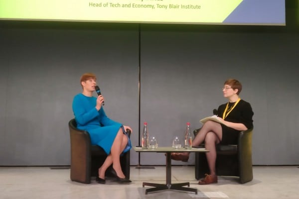 Kersti Kaljulaid, présidente de l'Estonie et Kirsty Innes, Head of Tech and Economy du Tony Blair Institute