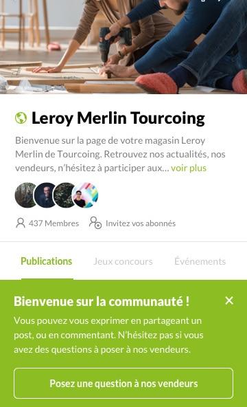 La «Tribu» de Leroy Merlin Tourcoing/Neuville-en-Ferrain connecte vendeurs et clients