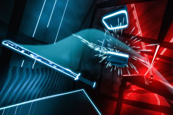 Beat Saber est un jeu vidéo de rythme en réalité virtuelle.