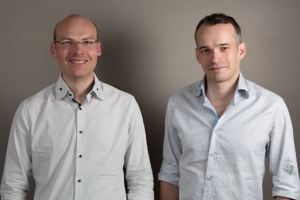 Nicolas Dessaigne et Julien Lemoine, fondateurs de la start-up Algolia