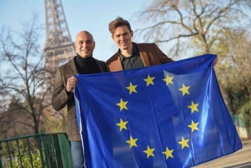 Laurent Silvestri, président d'OpenIP (à gauche) et Daan De Wever, CEO de Destiny.