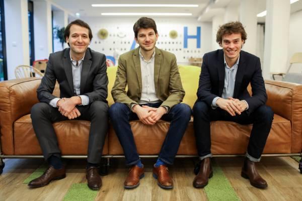 Stanislas Niox-Chateau, Ivan Schneider et Jessy Bernal, cofondateurs de Doctolib