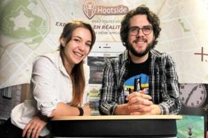 Charlotte Landry et Quentin Warnant, co-fondateurs de Hootside.