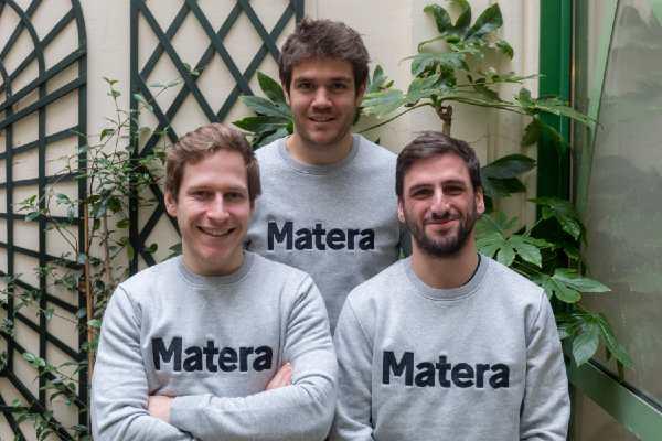 De gauche à droite : Victor Prigent (CPO), Jérémy Krebs (CTO) et Raphaël Di Meglio (CEO), fondateurs de Matera.