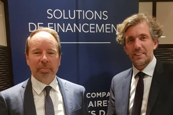 Franck Thouroude, Directeur chez Crédit Mutuel Equity et Sébastien Luyat, Président d'Axialease.