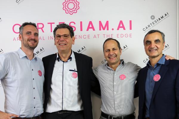 Les 4 fondateurs de Cartesiam : François de Rochebouet, Michel Rubino, Joel Rubino et Marc Dupaquier