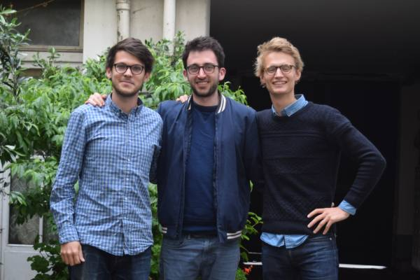 Quentin Brackers, Baptiste Maurel et Guillaume Motte, cofondateurs d'HostnFly.