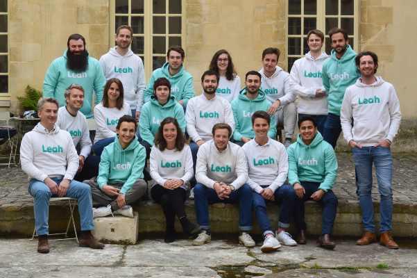 L'équipe en charge du développement de l'application Leah.
