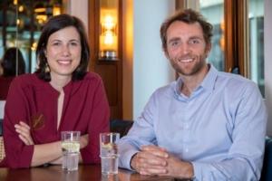 Vera Kempf et Brice Lecompte, co-fondateurs de la start-up Singulart.