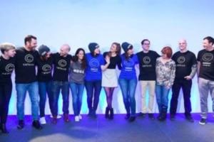 L'équipe de la fintech Celsisus Network.