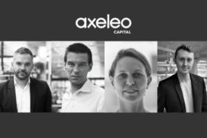 L'équipe dirigeante de Axeleo Capital _ Eric Burdier, Mathieu Viallard, Virginie Lucchini et Mathias Flattin.