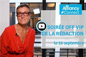 Notre rédactrice en chef Catherine Moal vous présente en vidéo le thème de notre prochaine soirée Off Vip de la rédaction du 16 septembre.