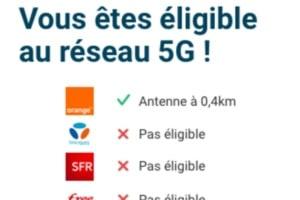 En passant le test 5G, gratuit et indépendant, vous saurez si une antenne 5G a été installée près de chez vous. Vous pourrez localiser, sur une carte interactive, les antennes présentes pour chaque opérateur.