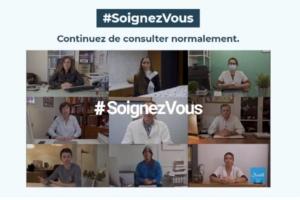 """Pour éviter les dommages collatéraux liés à la seconde vague de coronavirus, les praticiens membres du comité médical de Doctolib ont lancé l'initiative """"#SoignezVous""""."""