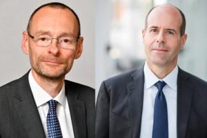 Stéphane Rousseau, DSI d'Eiffage et Franck Gauthier, DRH d'Eiffage Construction