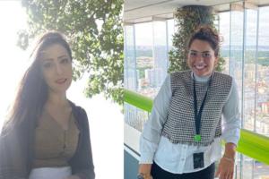 Lamiae Benhayoun, professeure associée à l'institut Mines Télécom Business School et Clarisse Ferreira, consultante cyber chez Deloitte