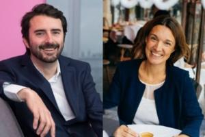 Véronique Marimon de Salesforce et Thibaut Champey de Dropbox.