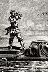 Capitaine Nemo, personnage créé par Jules Verne dans 20 000 lieues sous les mers.