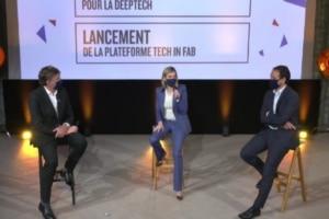 Paul-François Fournier, Directeur Exécutif de Bpifrance, Agnès Pannier-Runacher, ministre chargée de l'Industrie et CédricO, Secrétaire d'Etat chargé de la Transition numérique et des Communications électroniques.