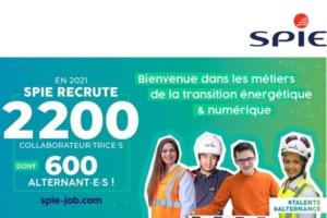SPIE France annonce le recrutement de 2 200 collaborateurs