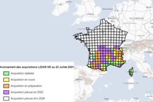 cartographie 3D du territoire