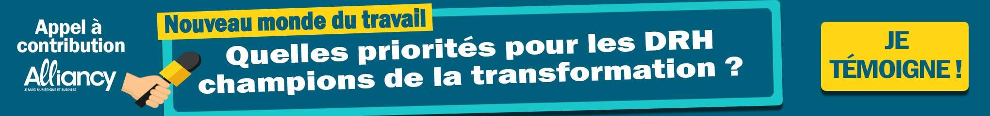 DRH & priorités de transformation- Appel à contribution