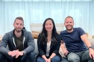 Dan Pielher, Helen Chen et Damien Drap, fondateurs de Nomad Homes.