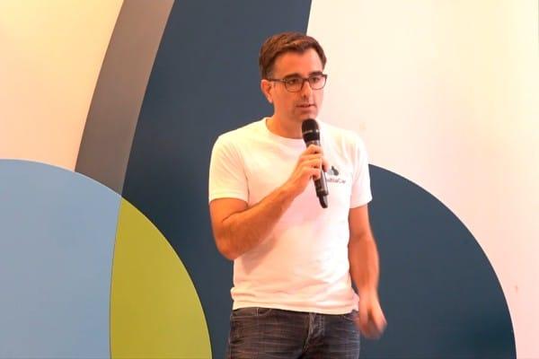 Nicolas Bosson, un des cofondateurs de Blablacar, lors de la conférence du 15ème anniversaire de la plateforme.