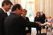 Le président François Hollande à la présentation des priorités de politique industrielle de la France