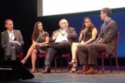 Cristina Diaz (2e à droite) est revenue sur l'utilisation de solution de planification connectée à Louis Vuitton. ©Alliancy