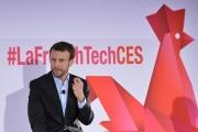 Emmanuel Macron, alors ministre de l'Economie et du Numérique, au CES 2016 à Las Vegas