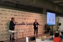Hugues Meili (Niji) et Elodie Maurin (PSA) sur la scène de l'EBG