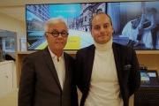 Michel Dinh, directeur général, et Sébastien Boucher, directeur digital, ont présenté leur stratégie de transformation à la Défense, leur 50e agence rénovée.