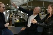 Jean Paul Agon, PDG de L'Oréal et Xavier Niel, fondateur de Station F