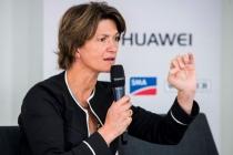 Isabelle Kocher, directrice générale d'Engie, ici lors du Solar Power Europe 2017. « L'énergie décarbonée et le numérique sont les deux poumons d'Engie pour le futur ».
