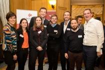 Les lauréats et leur parrain réunis mercredi 6 décembre lors de la soirée annuelle du club des partenaires IT.