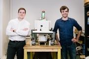 Gaëtan Séverac et Aymeric Barthès, les deux cofondateurs de Naïo Technologies, veulent contribuer à structurer la filière agricoles. ©Tien TRAN