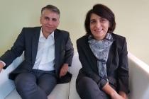 François Couton, directeur des opérations et de la transformation, et Catherine Touvrey, directrice générale d'Harmonie Mutuelle, mettent en avant les avantages de la dématérialisation pour les entreprises. ©CGM