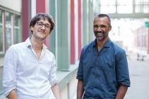 La start-up a été fondée en 2013 par Tony Pinville (à droite sur la photo) et Charles Ollion,