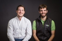 Gaëtan Séverac et Aymeric Barthes, fondateurs de Naïo Technologies.