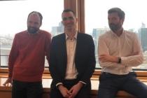 David Prache, Jérôme Pénichon et Arnaud Vallée, co-fondateurs d'Oppens.