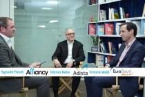 Sylvain Fievet, directeur des publications d'Alliancy, Patrice Bélie, Président d'Adista et Francis Weill, Président d'EuroCloud France & Cloud Community Europe.