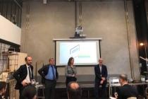 Yann Gaël Amghar, Directeur Général de l'Acoss, Alain Gubian, Directeur des statistiques, des études et de la prévision, Carole Leclerc, Directrice de l'innovation et du digital et Jean-Marc Lazard, fondateur et CEO d'Opendatasoft.