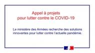 #COVID19 - L'Agence de l'Innovation de Défense (AID) lance un appel aux solutions innovantes