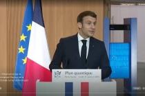 Live du Président Emmanuel Macron sur la stratégie nationale sur les technologies quantiques à Paris -Saclay le 21 janvier 2021.