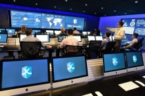 Au coeur du centre de commandement de la IBM X-Force Research à Cambridge qui simule des cyberattaques en situation réelle en utilisant des malwares, ransomwares et autres outils malveillants directement trouvés sur le darkweb (Crédits John Mottern / Feature Photo Service for IBM)