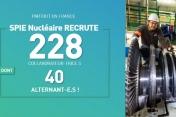 [Emplois] SPIE Nucléaire recrute 228 nouveaux collaborateurs dans 8 régions de France