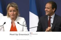 Barbara Pompili et Cédric O au Meet'up Greentech le 19 octobre 2021.